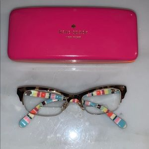 Kate Spade prescription eyeglass frames & case.